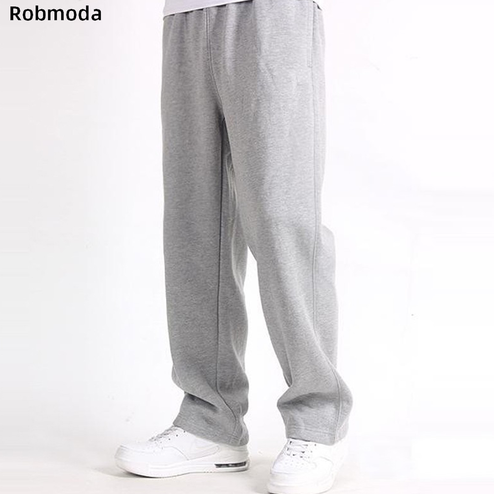 2019 Men Plus Size Pants 7XL Solid Baggy Loose Elastic Pants Cotton Sweatpants Casual Pants Trousers Large Big Plus Size XL-7XL