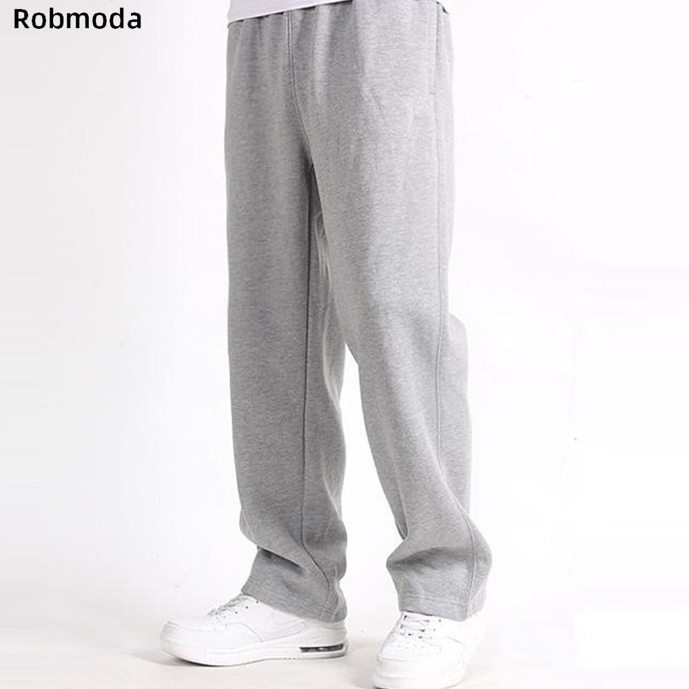 2019 Men Plus Size Pants 7XL Solid Baggy Loose Elastic Pants Cotton Sweatpants Casual Pants Trousers Large Big Plus Size XL-7XL