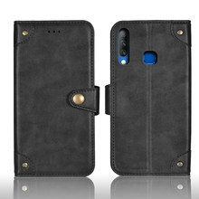 For Infinix S4 Case 6.21 inch Retro Magnetic Flip Wallet Leather Capas Case For Cubot S4 X626 Cover Unique Metal Buckle Design(China)