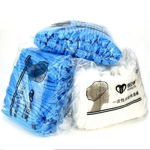 100 шт. одноразовые нетканые полосатые шапки, колпачки от пыли для гостиничного цеха, синие и белые шапочки для душа|Шапочки для душа|   | АлиЭкспресс