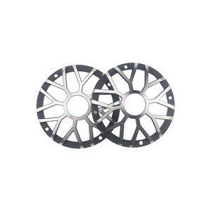 "Image 4 - GHXAMP 3 inch 92MM Car Center Speaker Grill Mesh For 3"" 3.5"" inch Car Midrange Speaker Cover Aluminum Decorative net 1Pairs"