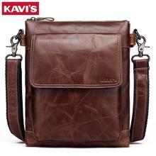 KAVIS, новинка, сумка-мессенджер из натуральной воловьей кожи, маленькие сумки, мужские сумки через плечо, бизнес сумки через плечо, известный мужской слинг