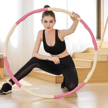 Detachable weight training sport hoop home workout massage hoop fitness circle gym accessories bodybuilding exercise equipment
