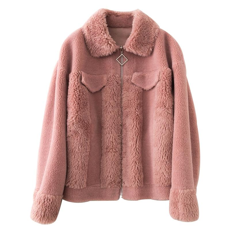 Real Fur Coat Wool Jacket Autumn Winter Coat Women Clothes 2020 Korean Vintage Streetwear Sheep Shearling Abrigo Mujer ZT3490