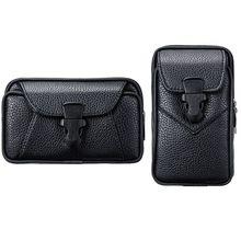 Мужчины Винтаж PU кожа пояс сумка телефон сумка спорт пояс бедра ремень петля кобура кошелек сумка для переноски чехол кошелек