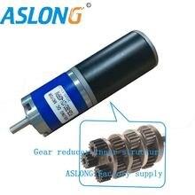 Alta qualidade 24v dc escovado planetário metal engrenagem motor 36mm tubular electirc dc motor12v com planetário engrenado redutor PG36-3662