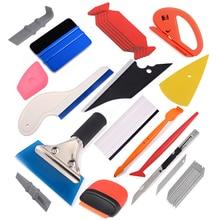 лучшая цена FOSHIO Carbon Fiber Magnetic Film Sticker Stick Squeegee Wrapping Cutter Vinyl Wrap Car Tools Kit Window Tint Auto Accessories