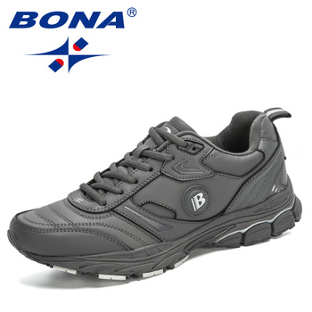 BONA 2020 New Designers Action Leather Shoes Men Casual Shoes Fashion Sneakers Man Leisure Walking Footwear Zapatos De Hombre fashion leather men casual shoes breathable men sneakers lightweight walking shoes outdoor non slip footwear zapatos de hombre