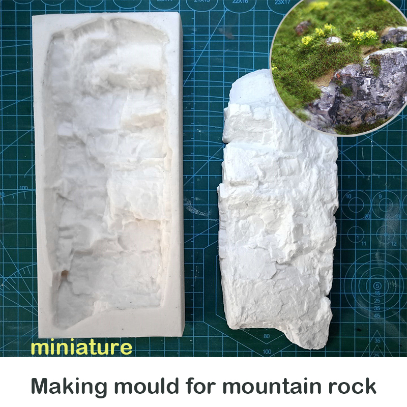 Special Offer  miniature  Making mould for mountain rock  Silica gel A004  DIY tool for scene sand table
