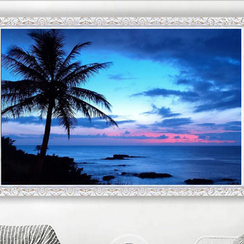 Ручная работа 5D Сделай Сам алмазная живопись Красивая вышивка пейзажа Приморский кокосовое дерево вышивка крестиком ремесла домашний