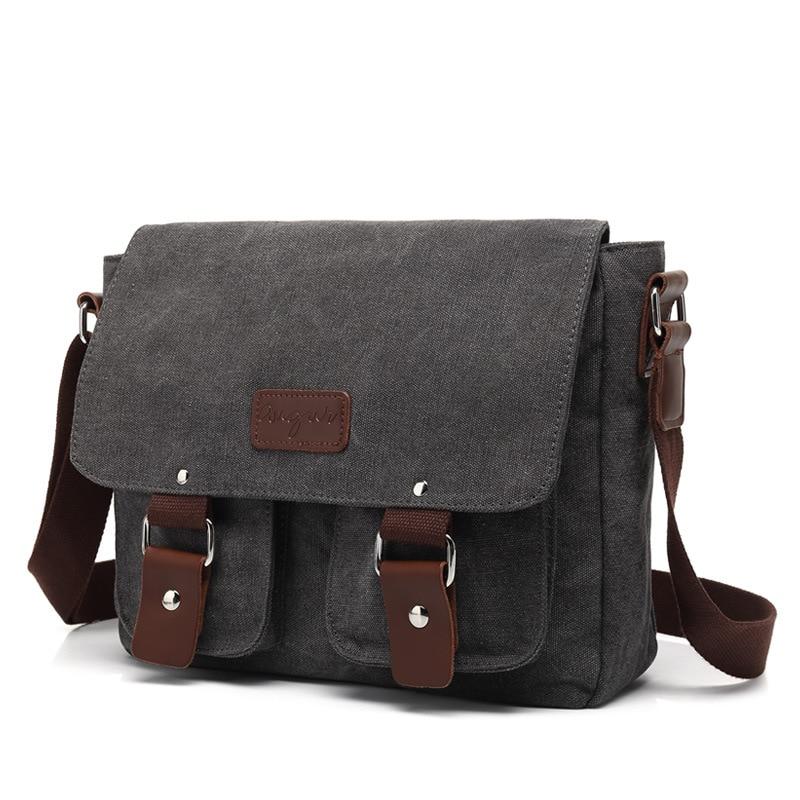 Men/'s Messenger Canvas Military Bag Shoulder chest Tote Satchel Briefcase Travel