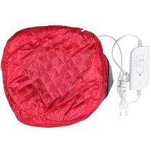 Маска для волос термальный нагрев контроль температуры AC100-240V всех типов электрический Пароварка для волос 50-75 Вт 50-60 Гц колпачок Eu Plug