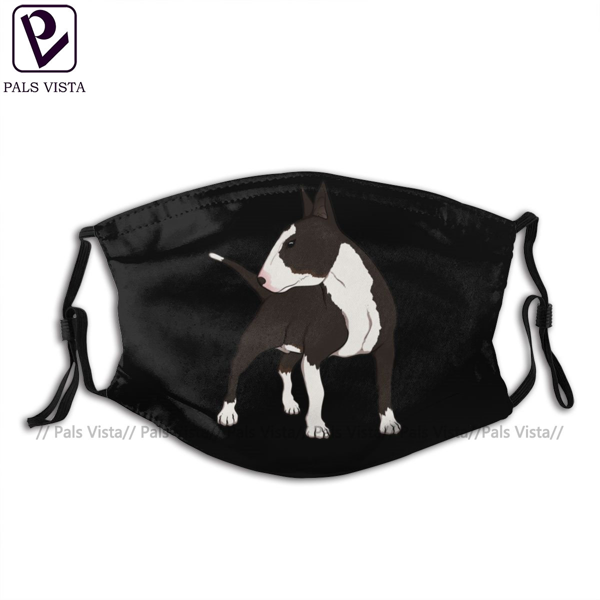 Bull Terrier Mouth Face Mask ENGLISH BULL TERRIER Facial Mask Cool Fashion With 2 Filters For Adult