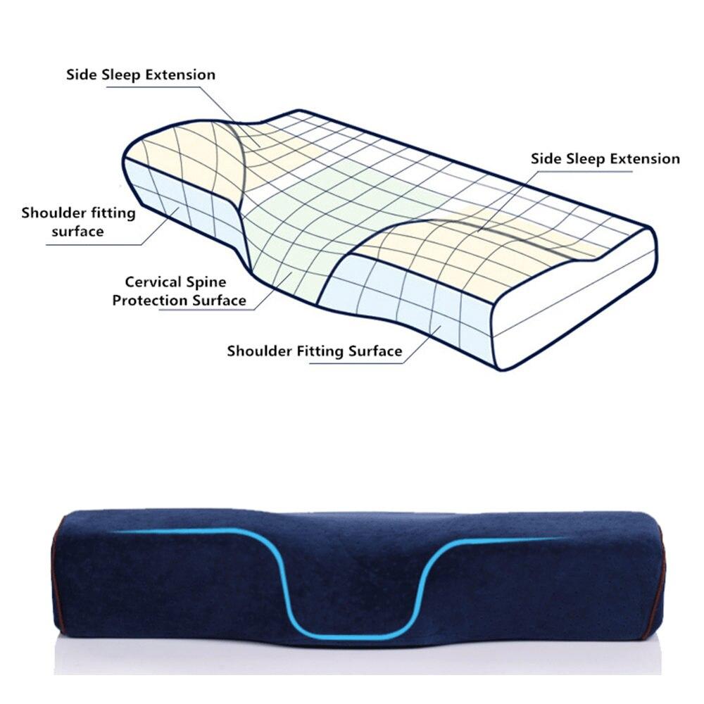 Memory Foam Bedding Pillow Shaped Ergonomic Cervical Pillow Sleeping Comfortable Neck Protection Butterfly Memory Foam Pillow 5