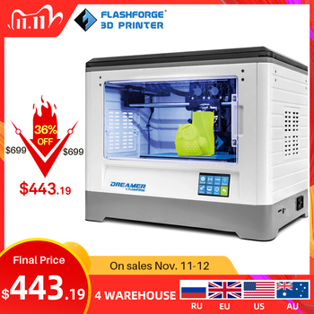 Flashforge 3D Printer 2020 FDM Dreamer Dual color print WIFI and touchscreen W/2 Spool Fully Assembled 3D Drucker