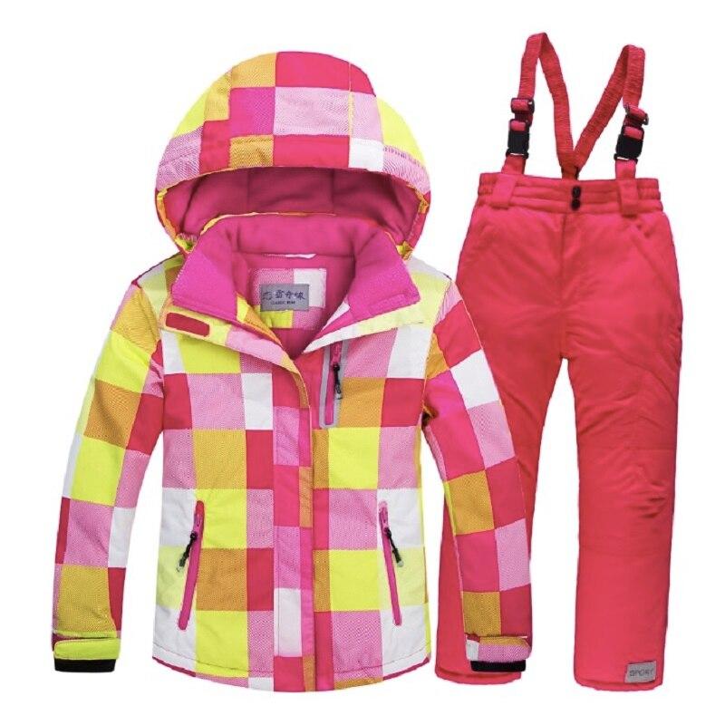 2019 veste de Ski enfants hiver enfants coupe-vent imperméable Super chaud vêtements de Ski filles manteau de neige-30 veste de Snowboard d'hiver