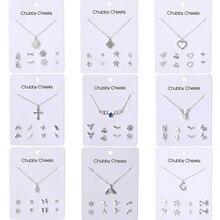 Женские серьги VKME, сережки и ожерелье в Корейском стиле, вечерние серьги, 2019