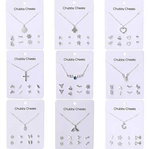 VKME Korean version necklace earrings set jewelry NE+EA women's earrings necklace new 2019 party gift