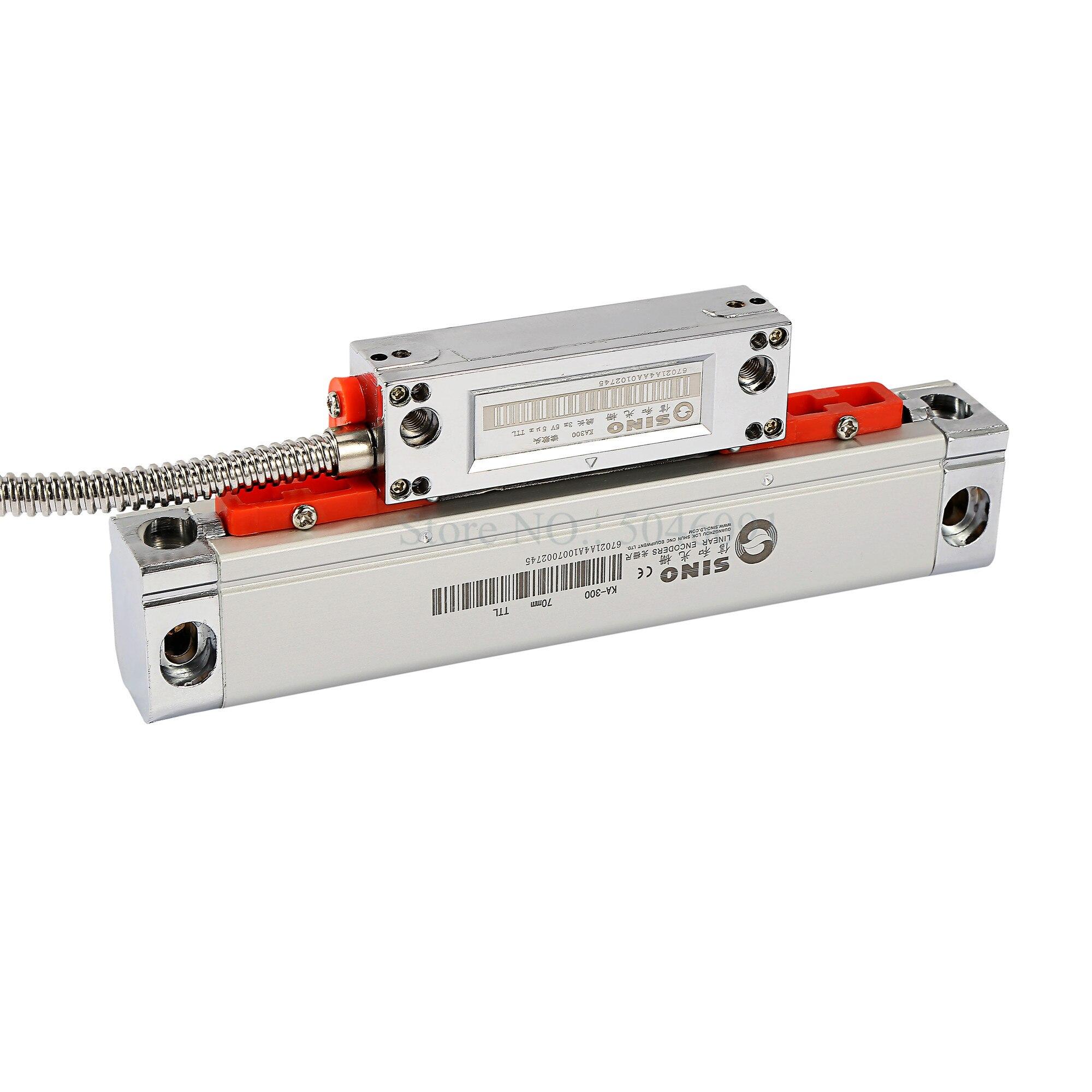 SINO KA-300 Optical Enencoder KA300 5um TTL 5V 70 120 170 220 270 320 370 420 470mm Linear Glass Scale For Milling Lathe Machine