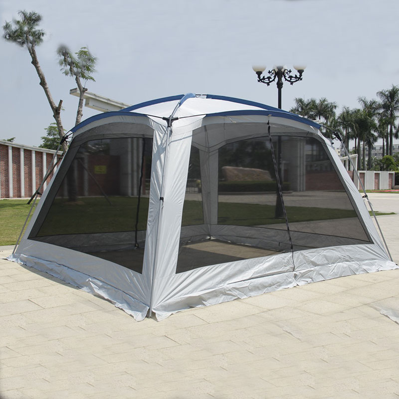 Alltel Ultralarge 5-8 Person 365*365*210CM Party Tent Large Gazebo Sun Shelter With Mosquito Net Barbecue Tent Carpas De Camping