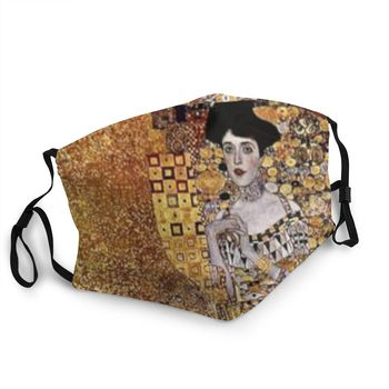 Non-Disposable Adele Bloch Mouth Mask Gustav Klimt Painting Anti Haze Protection Cover Respirator Muffle image