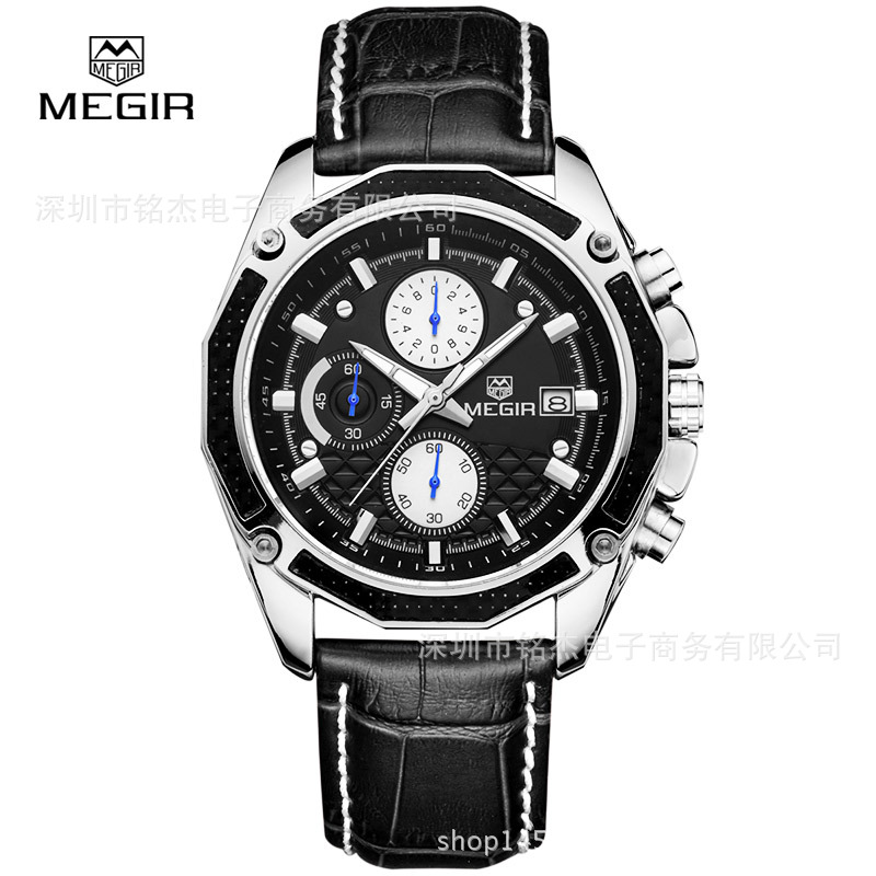 AliExpress Hot Selling <font><b>megir</b></font> mei gainer <font><b>2015</b></font> Fashion MEN'S Watch Multi-functional Men Business Casual Watch image