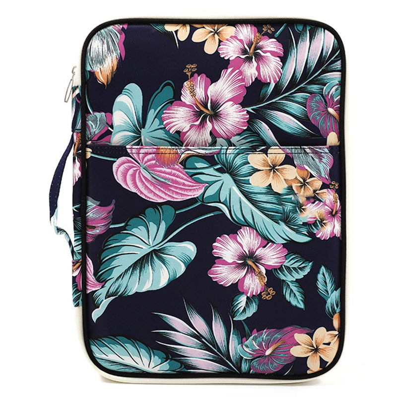 Flower Folder Multifunction A4 Bag Storage Bag Portable Tablet File Product Waterproof Nylon Storage Bag File Notebook Pen Com