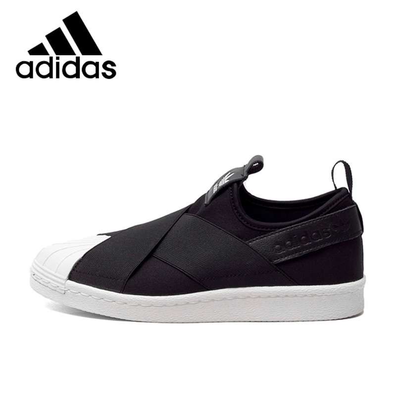 <font><b>Original</b></font> Authentic <font><b>Adidas</b></font> Superstar Slip Clover Men and <font><b>Women</b></font> Skateboarding <font><b>Shoes</b></font> Black White Breathable New Sneakerst S81337 image
