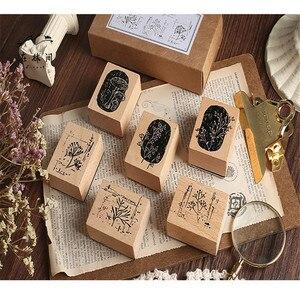 Новое поступление ретро завод цветы деревянный резиновый штамп для DIY скрапбукинга фотоальбом пуля журнал карты изготовления деревянный ш...