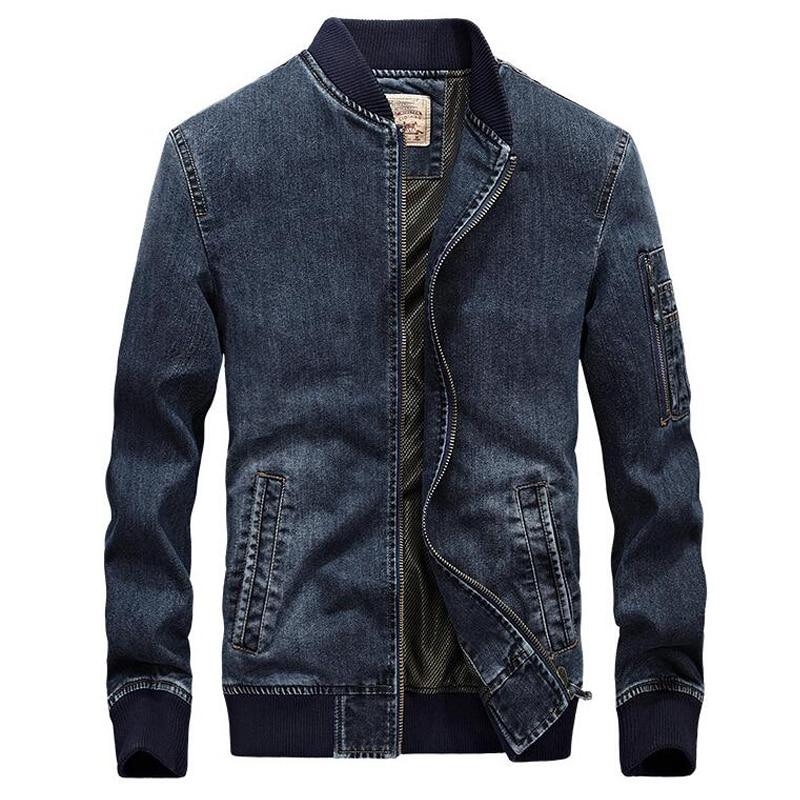 Hommes Denim Bomber veste hommes vêtements printemps automne marque de mode hommes Jeans veste décontracté Cowboy manteau Streetwear grande taille M-4XL