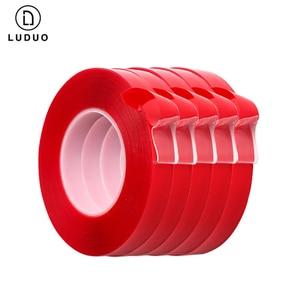 Image 2 - Luduo 3メートルの車のステッカースーパー修正赤両面保護自己粘着テープアクリル透明痕跡自動車外装固定