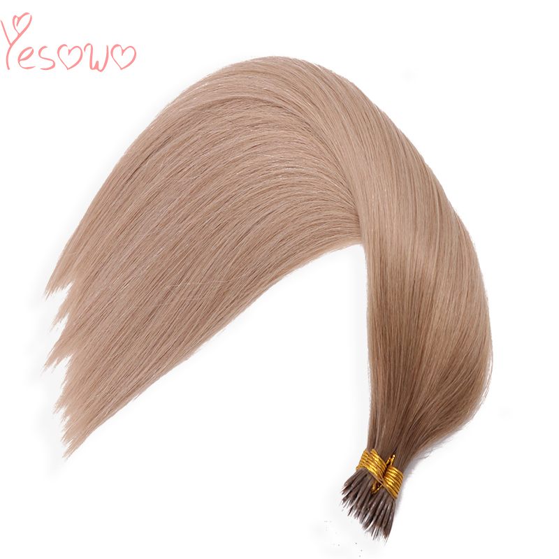 Yesowo Brazilian Straight New Design I Tip Ombre Human Hair 1g Wholesale Cheap Straight High Quality Fusion Hair Extensions Remy