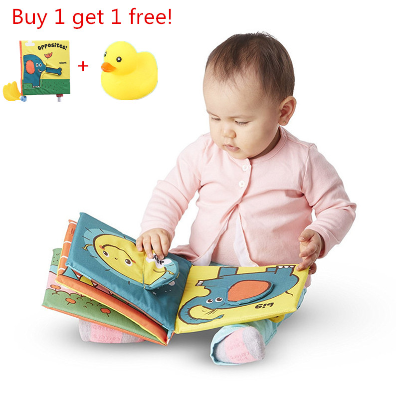 Soft Elephant Book Three-Dimensional Puzzle Early Education Tooth Tape Baby Cloth Books For Children Stuffed Plush Baby Book 29