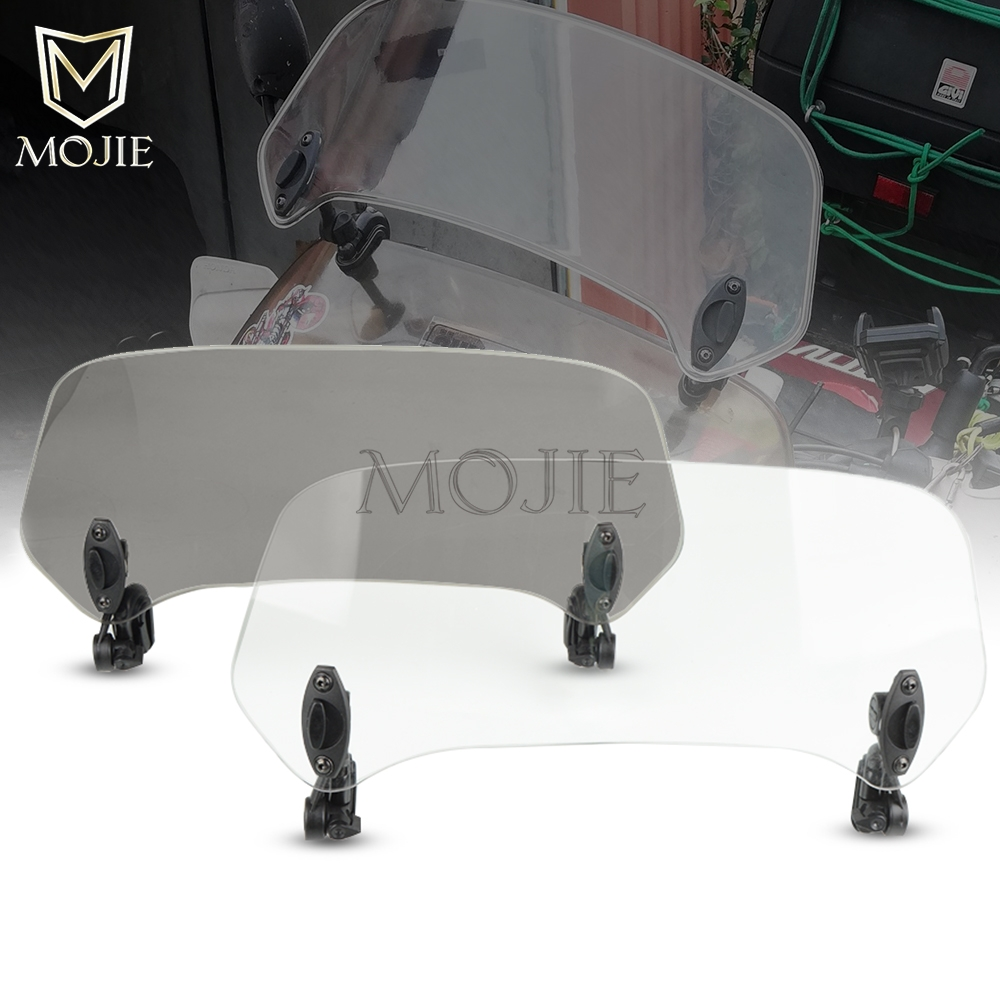 Motorcycle Windshield Extension Spoiler Windscreen Air Deflector For <font><b>Honda</b></font> <font><b>XL</b></font> 650 600 <font><b>700</b></font> 1000 125V Transalp Varadero XRV750 image