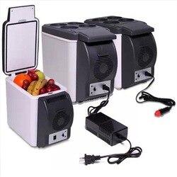 6L Mini lodówki samochodowe lodówka 2 w 1 Cooler cieplej Icebox 12V podróży przenośne elektryczne lodówka turystyczna zamrażarka z 4 otworami stojak w Lodówki od AGD na
