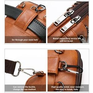 Image 5 - Jeepbuluo Mannen Crossbody Tas Kleine Multifunctionele Sling Borst Bag Benen Taille Tas Voor Man Nieuwe Mode Mini Casual daypacks Unisex
