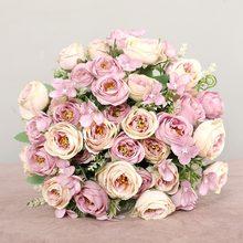 Roses Artificielles En Soie de Haute qualité Avec Tige, fausses Fleurs, pour décorer la maison