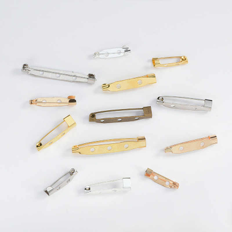 50 sztuk 20 25 30mm tworzenia biżuterii szpilki ze stali nierdzewnej broszka spinka bazy Pins dla DIY bezpieczeństwa broszka elementy do wyrobu biżuterii