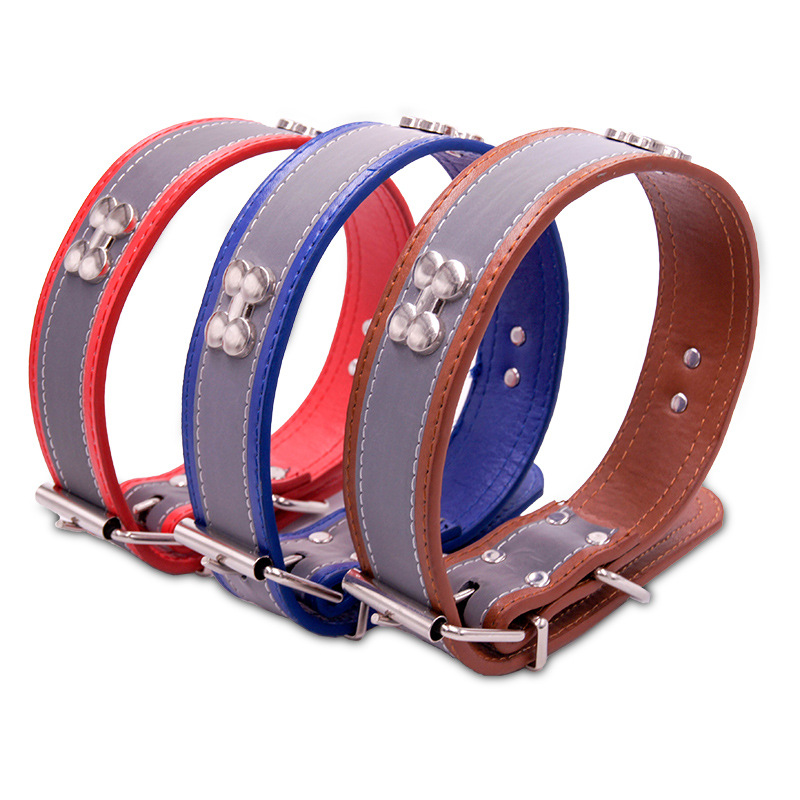 Pet Collar Leather Neck Ring Hide Substance Hand Holding Rope Collar Dog Medium Large Dog Adjustable