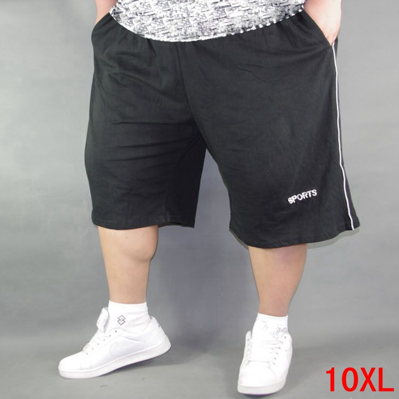 Men's Plus Size Shorts Plus Size 8XL 9XL 10XL Waist 142cm Summer Large Elastic Sports Casual Loose Large Size 58 Black Shorts