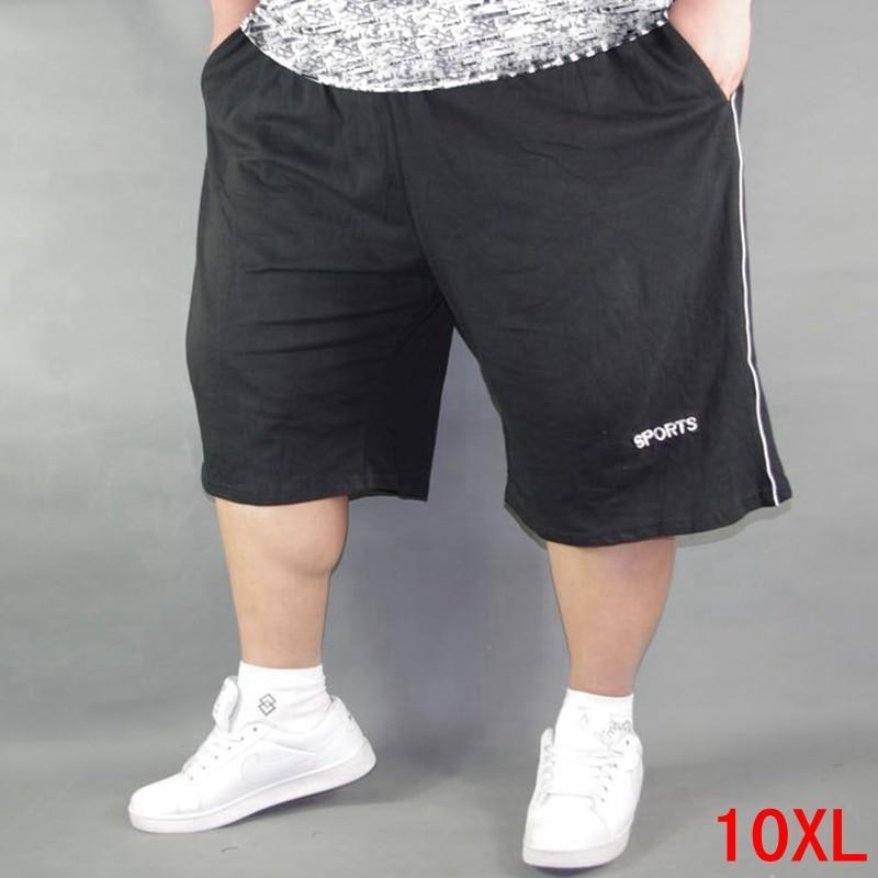 Men's Plus Size Shorts Plus Size 8XL 9XL 10XL Waist 142cm Summer Large Elastic Sports Casual Loose Large Size 58 Black Shorts