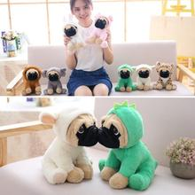 New Recommended Creative Wearing Hat Dog Plush Toy Cute Turned Simulation Shar Pei Doll
