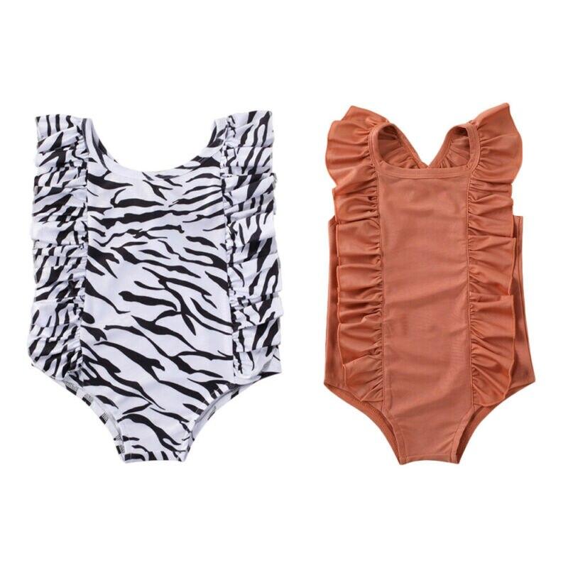Mode Neugeborenen Baby Mädchen Kinder Bademode Sommer Sleeveless Backless Badeanzug Kinder Strand Badeanzüge Sommer Schwimmen Kleidung