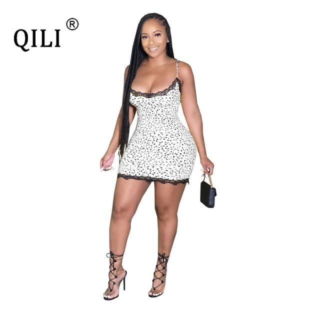 Фото qili/сексуальное женское платье без рукавов с принтом в виде