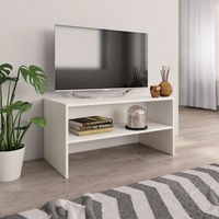 Modern Furniture Tv Stand In Living Room VidaXL White Agglomerated Wood TV Cabinet Bookcase Durable & Elegant 80x40x40 Cm
