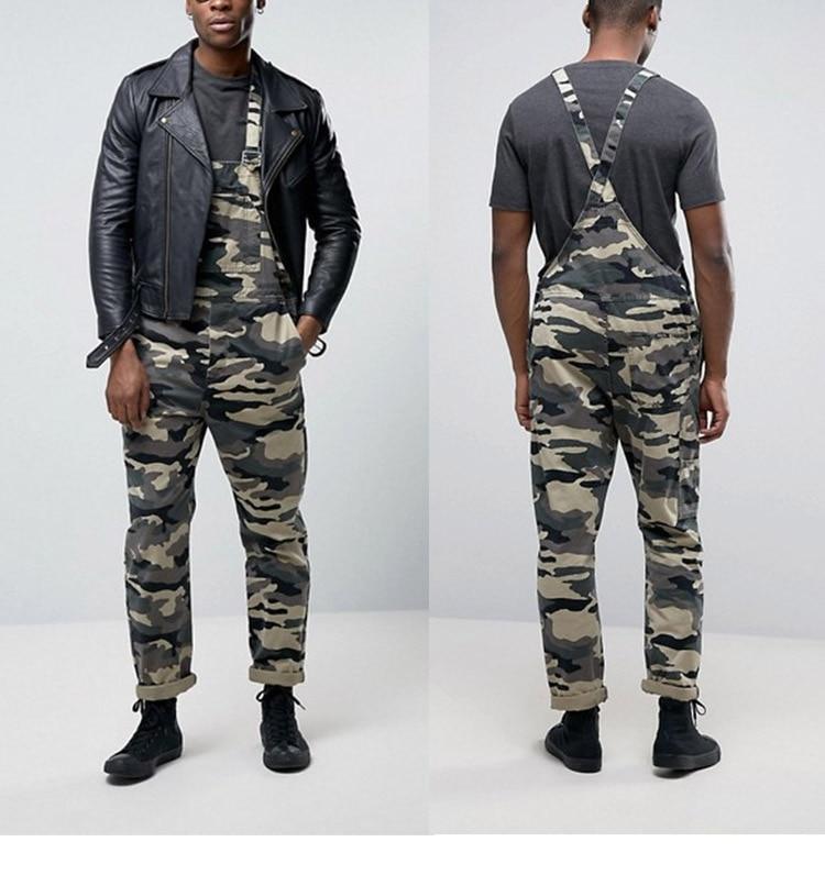 Men's Camouflage Jumpsuit Pants Bib Overalls Tracksuit Camouflage Print Jeans Tracksuit Work Uniform Summer Sleeveless Overalls (1)
