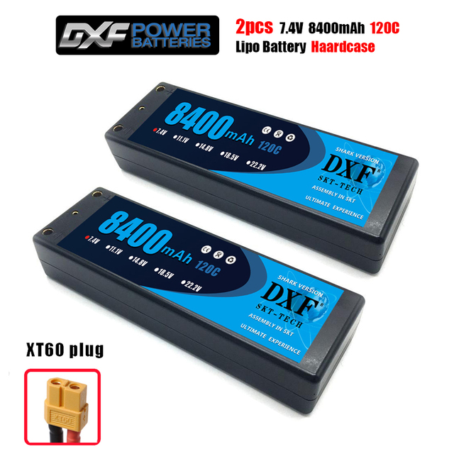 DXF 2S 7.4V 8400mAh 120C Hardcase Lipo