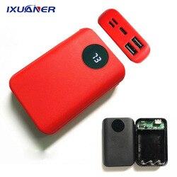 Корпус портативного внешнего аккумулятора iXuaner с 2 USB-портами для самостоятельной сборки, 10 000 мАч