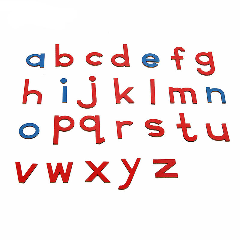Baby Toy Montessori 5 Lots =130 Pcs 5 Different Colors Blue Red English Language Letters Alphabets Preschool Brinquedos Juguetes