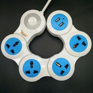 Image 5 - Удлинитель питания с 4 электрическими универсальными розетками и USB кабелем длиной 1,8 м